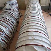 颗粒机输送帆布伸缩耐磨布袋制作