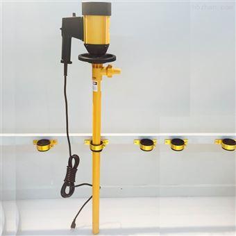 耐高温电动抽油泵HD-E2-V+PVDF耐酸碱电动插桶泵