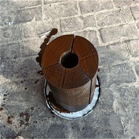 浸沥青红松木管卡报价