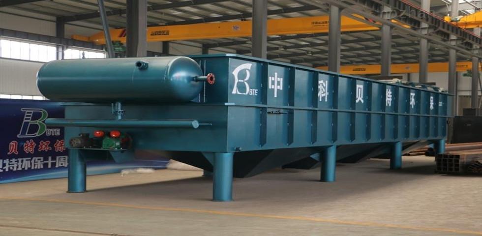 大连豆制品污水气浮机处理运行现场