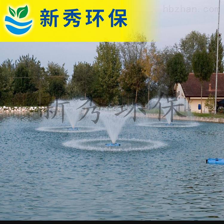 无锡喷泉曝气机安装现场