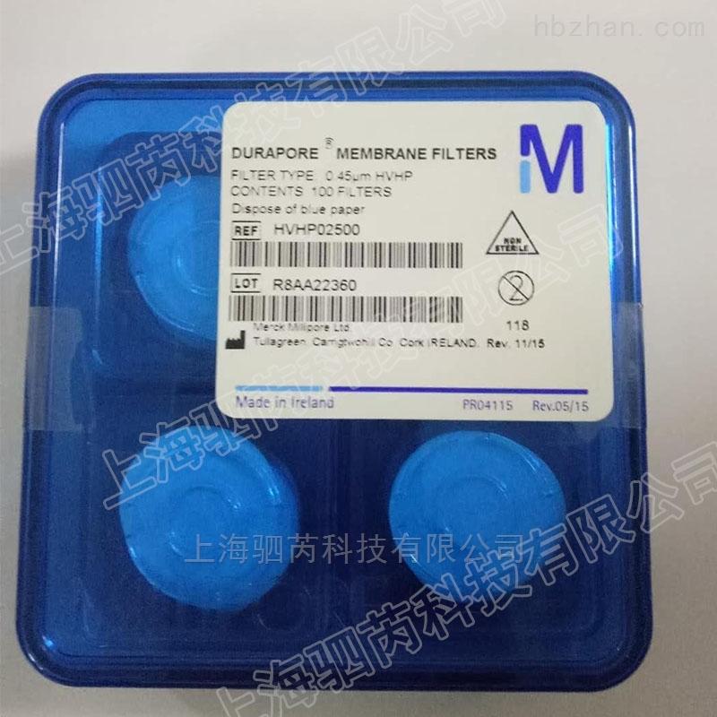 Millipore孔径0.45um疏水性PVDF表面滤膜