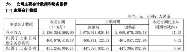 瀚蓝环境2020年上半年净利4.61亿增长0.02% 部分固废项目陆续完工投产