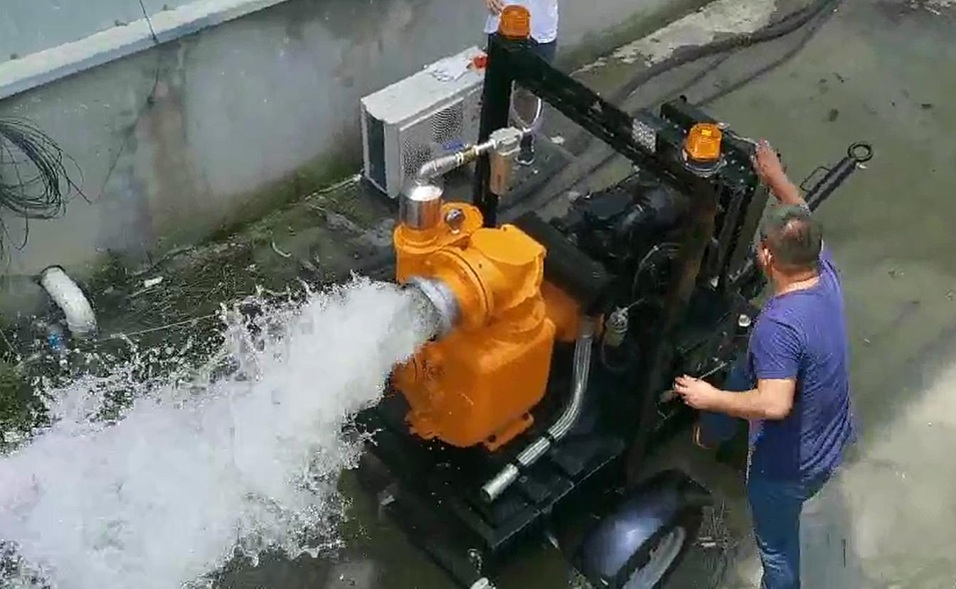 井点降水泵现场