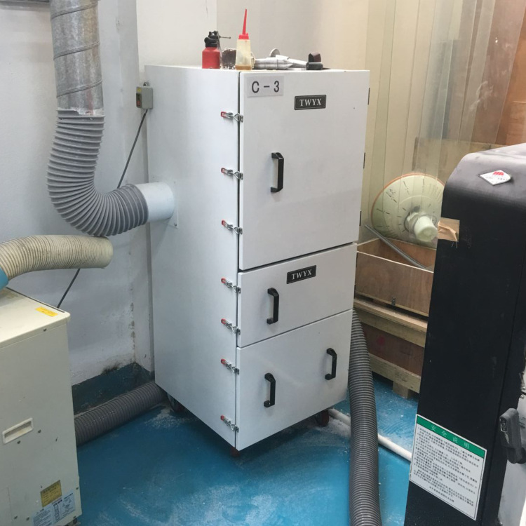 厂家磨床吸尘器  0.75kw磨床粉尘除尘器  JC-750-2砂轮机打磨集尘器   机床铝屑粉尘吸尘器移动式示例图9