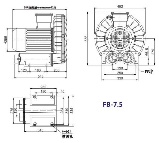 5.5kw油气输送防爆旋涡气泵,油罐油气回收防爆漩涡气泵易燃易爆气体用风机示例图6