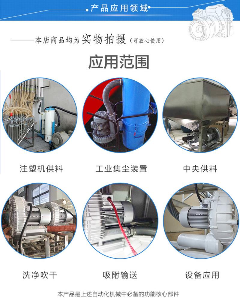 高压风机自动上料机设备风机/纽瑞高压鼓风机.旋涡鼓风机/RH-830-1旋涡气泵示例图7