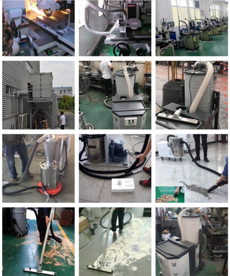 定制 磨床吸尘器CW-220S  功率2.2kw磨床金属粉末工业磨床吸尘器示例图22