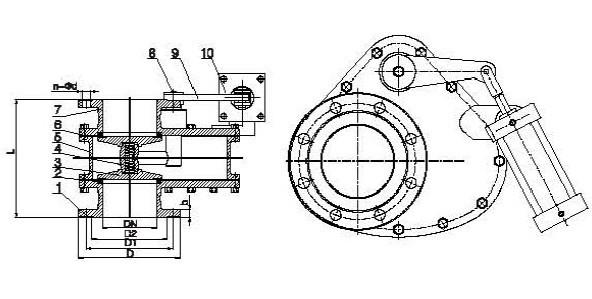 BZ643TC气动陶瓷旋转阀图