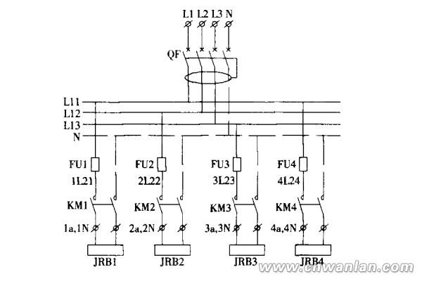 电伴热带配电图