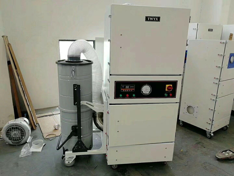 厂家磨床吸尘器  0.75kw磨床粉尘除尘器  JC-750-2砂轮机打磨集尘器   机床铝屑粉尘吸尘器移动式示例图13