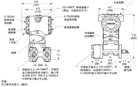 絕壓差壓力變送器單晶硅EJA530EJA110E可替代日本橫河YOKOGAWA示例圖4