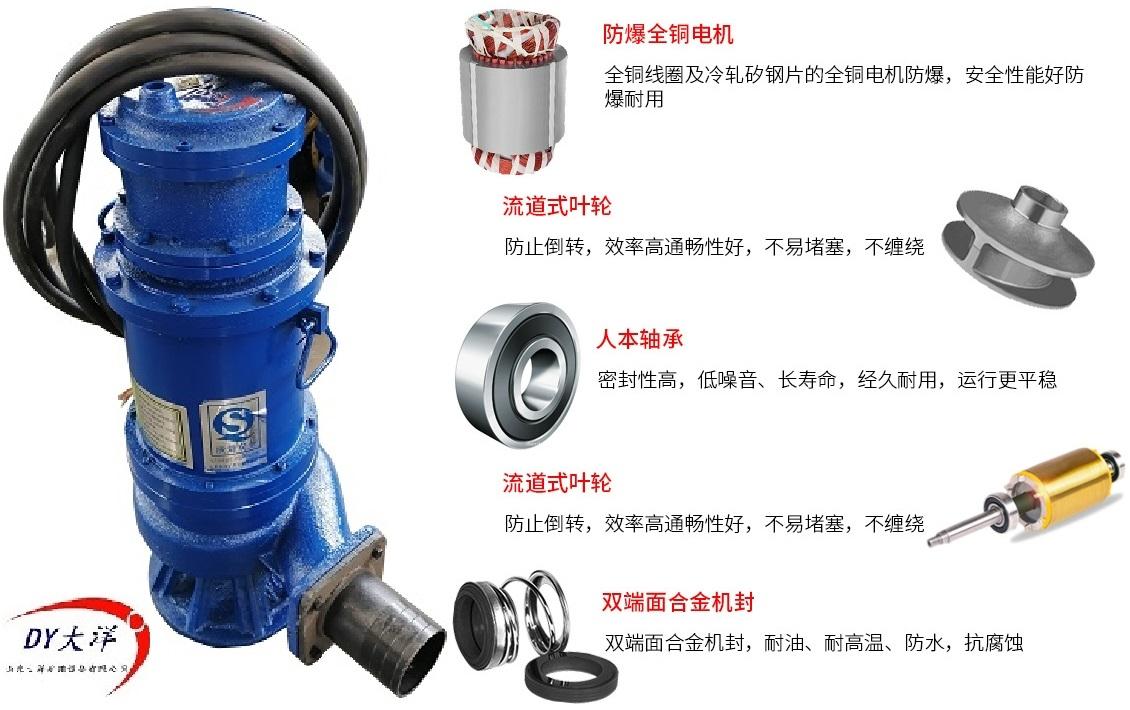 防爆矿用污水泵细节