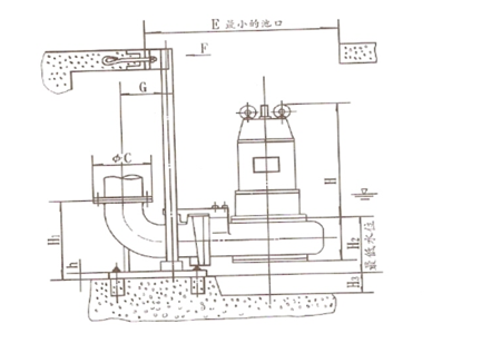 WQ潜水排污泵安装示意图