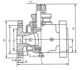 二通保温旋塞阀结构示意图