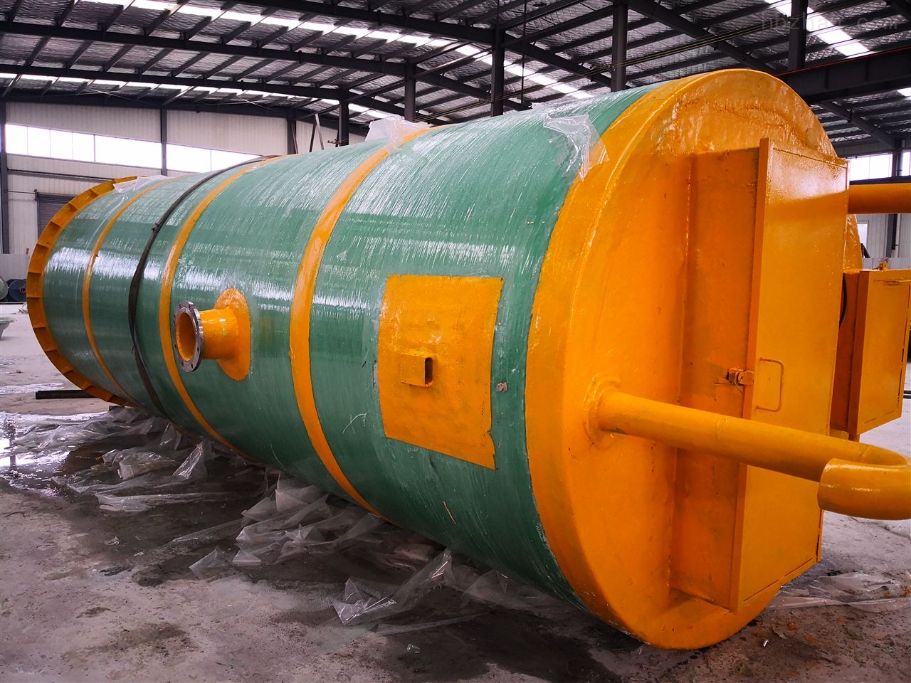 张家口市市政管网一体化预制泵站安装环境
