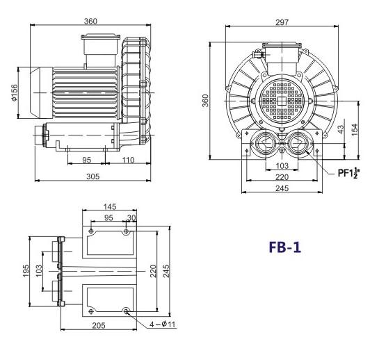 粉尘粉体防爆高压风机示例图11