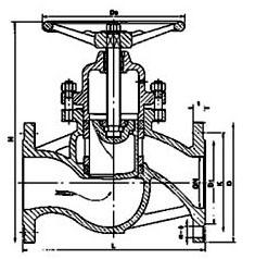 法兰柱塞阀U41SM结构图