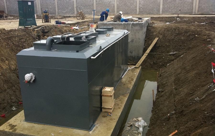 东营景观池一体化预制泵站安装环境